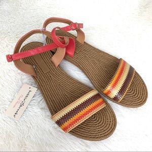 Bobbie Brooks Sandals Rainbow NWT Summer Size 10